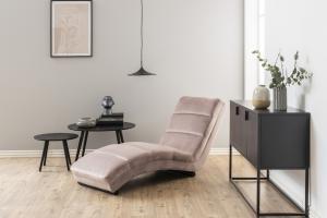 Luxusné relaxačné kreslo Nana, svetlo ružové