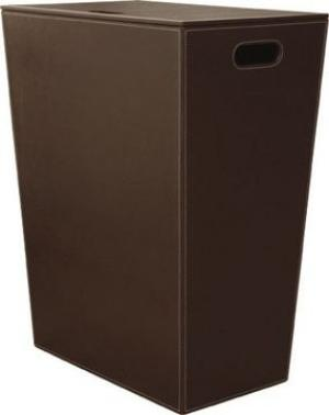 Luxusný ECO PELLE kôš na prádlo 47x60x30cm - hnedá