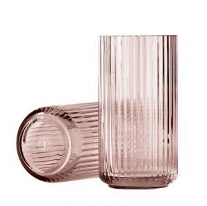 LYNGBY Sklenená váza Vase Burgundy 20 cm