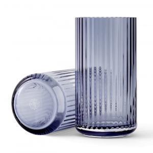 LYNGBY Sklenná váza Vase Blue 20 cm