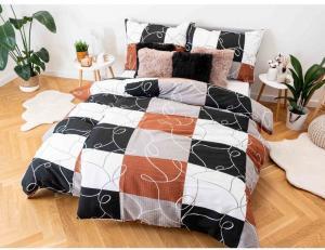 M&K Krepové obliečky Exclusive – Domino hnedá 140x200/70x90cm