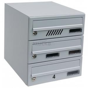 M30 schránka modulová, 5. schránok, Menovka + menovka, RAL 8016 / Hnedá