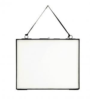 MADAM STOLTZ Rámček na fotku z dvojitého skla Black Big