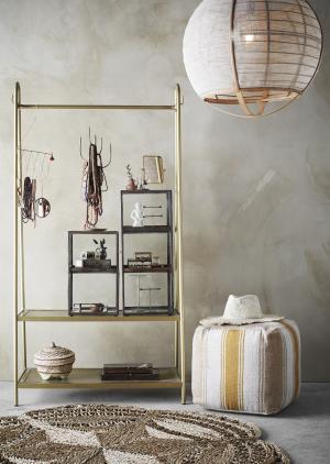 MADAM STOLTZ Stolné zrkadlo v rámčeku Gold