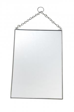 MADAM STOLTZ Závesné zrkadlo Silver