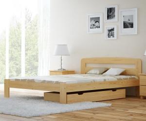 MAGNAT postel Sara 140x200 s roštem - masiv borovice