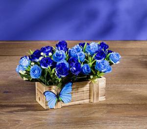 Magnet 3Pagen Kvetináč s modrými ružami