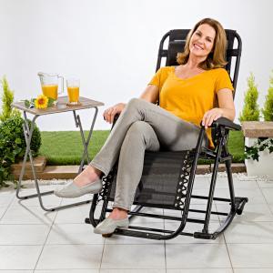 Magnet 3Pagen Záhradná hojdacia stolička 2 v 1 čierna