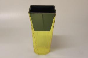 MAKRO - Kvetináč Urbi TWIST 14cm žltý