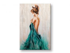 Maľovaný obraz na stenu ŽENA 1 dielny CWF1795H10E1 - 60x90 cm