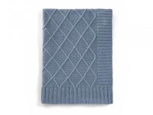 MAMAS & PAPAS - Pletená deka modrý denim
