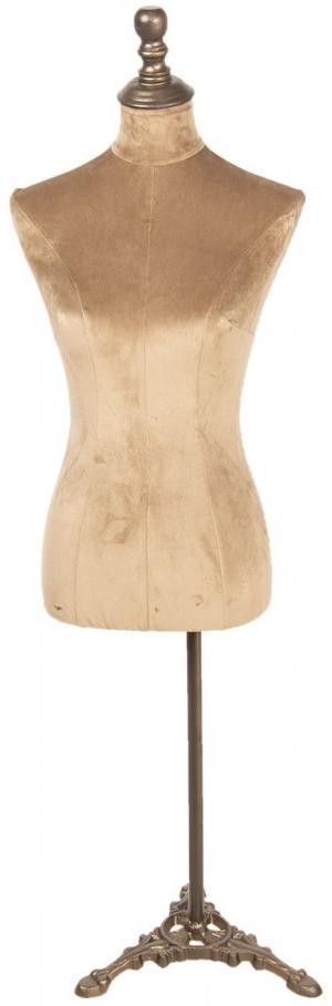 Manekýnka so zlatým zamatovým telom Manequeen - 38 * 34 * 160 cm
