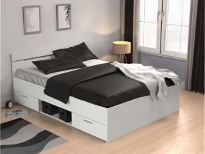 Manželská posteľ 140 cm Myriam (biela)