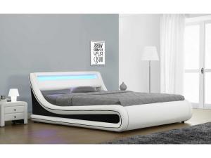 Manželská posteľ 160 cm Manila (s roštom, úl. priestorom a LED)