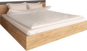 Manželská posteľ, 160x200, dub artisan/grafit, GABRIELA
