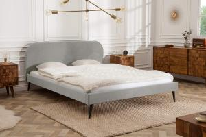 Manželská posteľ Lena 140 x 200 cm - strieborný zamat
