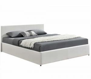 Manželská posteľ s RGB LED osvetlením, biela, 180x200, JADA NEW