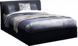 Manželská posteľ s úložným priestorom, čierna, 160x200, KERALA