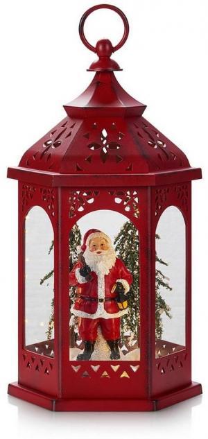 Markslöjd 704975 - LED Vianočná dekorácia ROLF LED/3xAA lucerna červená