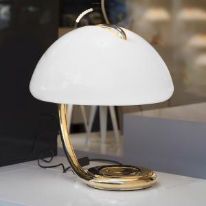 Martinelli Luce Martinelli Luce Serpente – stolná lampa, zlatá
