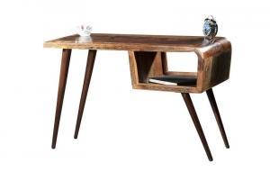 Masiv24 - RETRO Písací stôl 116x59 cm, staré drevo