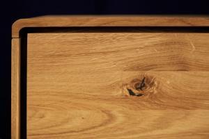 SKANE TV stolík 220x48 cm, dub, prírodná