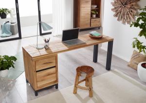 Masiv24 - TIROL Písací stôl 150x55 cm, prírodná, dub