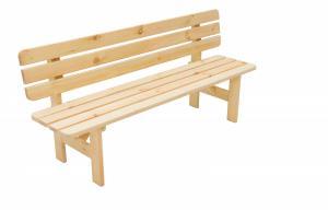 Masívna lavica z borovice drevo 30 mm (rôzne dĺžky) 150 cm