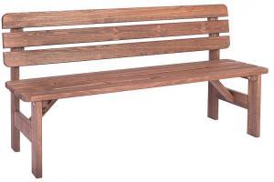Masívná lavica z borovice drevo moderené 30 mm (rôzne dĺžky) 150 cm
