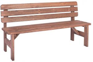 Masívná lavica z borovice drevo moderené 30 mm (rôzne dĺžky) 180 cm