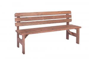 Masívná lavica z borovice drevo moderené 30 mm (rôzne dĺžky) 200 cm