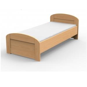 Masívna posteľ PETRA s oblým čelom pri nohách Veľkosť: 200 x 90 cm, Materiál: BUK morenie čerešňa