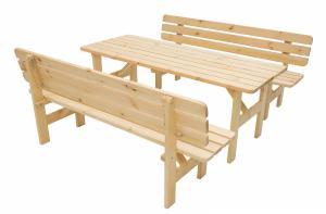 Masívna zostava z borovice 1+2 drevo 30 mm (rôzne dĺžky) 180 cm