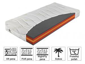 Materasso Antibakteriálny matrac Bryce 100x200 Poťah: Silver Care (príplatkový poťah)