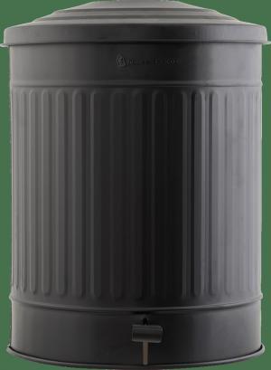 Matne čierny kôš na odpadky Ø37x48 cm