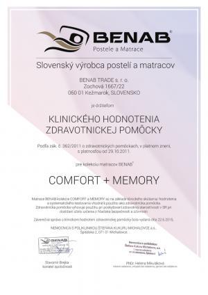 Matrac VISCO PLUS, 1+1, Benab ROZMER: 70 x 200 cm