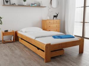 Maxi Drew Posteľ Ada 80 x 200 cm, jelša Rošt: Bez roštu, Matrac: Bez matrace