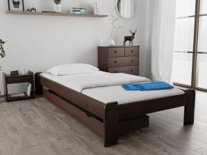 Maxi Drew Posteľ Ada 80 x 200 cm, orech Rošt: S latkovým roštom, Matrac: Matrac Somnia 17 cm