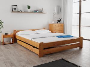 Maxi Drew Posteľ Emily 120 x 200 cm, jelša Rošt: Bez roštu, Matrac: Matrac DELUXE 15 cm
