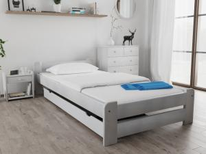 Maxi Drew Posteľ Emily 80 x 200 cm, biela Rošt: s lamelovým roštom, Matrac: bez matrace