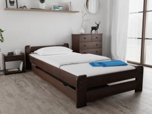 Maxi Drew Posteľ Emily 80 x 200 cm, orech Rošt: Bez roštu, Matrac: s matracom COCO MAXI 23 cm