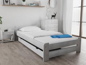 Maxi Drew Posteľ Emily 90 x 200 cm, biela Rošt: Bez roštu, Matrac: Bez matrace