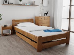 Maxi Drew Posteľ Laura 80 x 200 cm, dub Rošt: Bez roštu, Matrac: s matracom COCO MAXI 23 cm