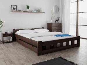 Maxi Drew Posteľ Naomi zvýšená 120 x 200 cm, orech Rošt: S lamelovým roštom, Matrac: Matrac COCO MAXI 23 cm