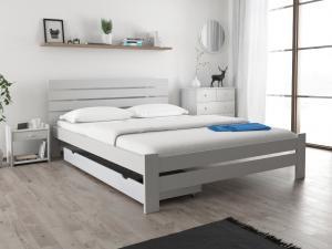 Maxi Drew Posteľ PARIS zvýšená 160x200 cm, biela Rošt: Bez roštu, Matrac: Bez matrace