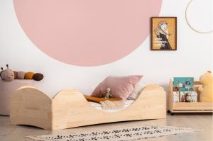 MAXMAX Detská dizajnová posteľ z masívu PEPE 1 - 200x90 cm