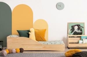 MAXMAX Detská dizajnová posteľ z masívu PEPE 3 - 200x90 cm