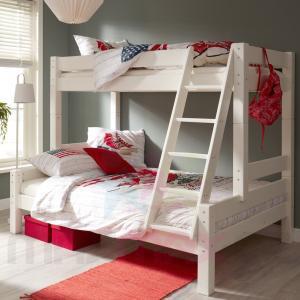 MAXMAX Detská poschodová posteľ s rozšíreným spodným lôžkom z MASÍVU 200x100 cm bez zásuvky PAVLÍNA