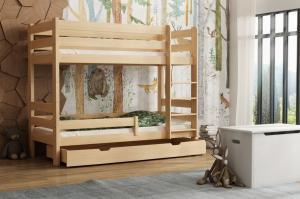 MAXMAX Detská poschodová posteľ z masívu GABI - 180x80 cm