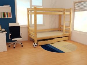 MAXMAX Detská poschodová posteľ z masívu ROBUST 8X8 3B - 200x90 cm